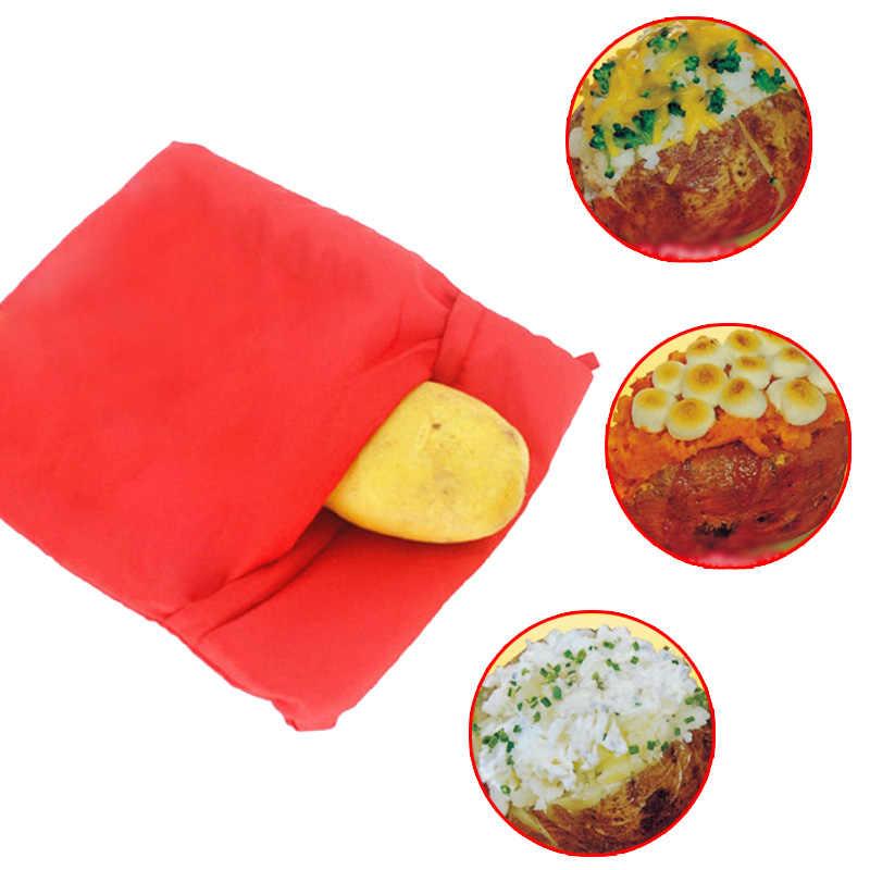 1 قطعة حقيبة البطاطس الحمراء الميكروويف البطاطس طباخ الكمال فرن خبز البطاطس في 4 دقائق فقط مفيدة الطبخ أداة