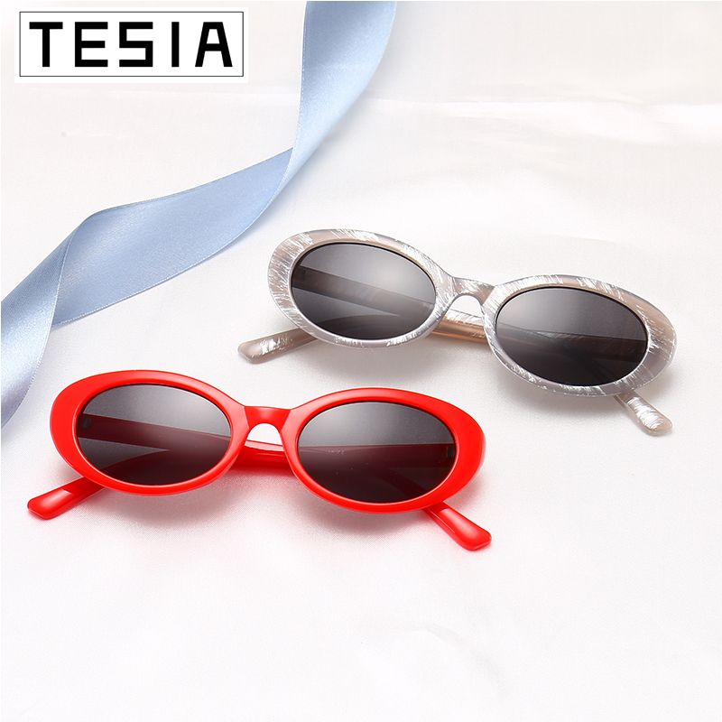 Small Oval Sunglasses Women Pink Red Glasses Brand Designer Shades For Woman Sunglases Zonnebril Dames UV 100% Oculos De Sol