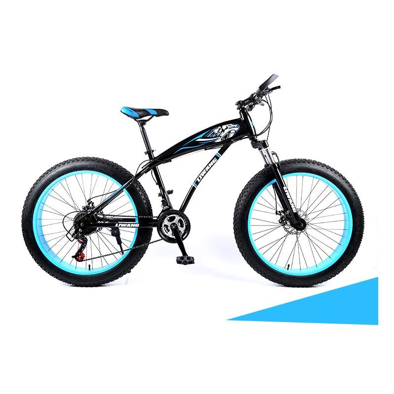 Snowmobiles 24/26 Inches Double Disc Brake Rigid Frame Big Tires Mountain Bike 21 Speed 24 Speed 27 Speed