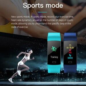 Image 4 - SENBONO Bluetooth Y5 Heart Rate Blood Pressure Oxygen Monitoring Smart Band Watch Wristband Fitness tracker Smart Band Russian