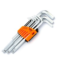 JAKEMY 9 In 1 Hex Key Wrenches Set Electrical Household Furniture Bicycle Auto Car Mechanic Repair