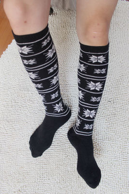 12pcs Male knee-high socks male autumn and winter thermal thickening stockings male wool socks male socks