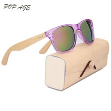 Classical Bamboo Sunglasses Men Vintage Male Sunglasses 2016 Ray Brand Wood Sun Glasses Gafas de sol GB1004