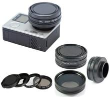 37 мм CPL Фильтр Круговой Поляризатор Фильтра Объектива с Крышкой для GoPro Hero 4/3 +/3