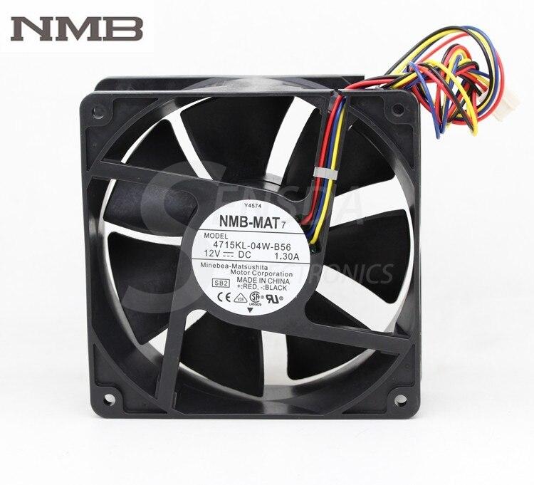 Original NMB 4715KL-04W-B56 12 cm 120mm 12038 DC 12 V 1.3A P/N Y4574 servidor inversor ventilador axial industrila ventiladores de refrigeración