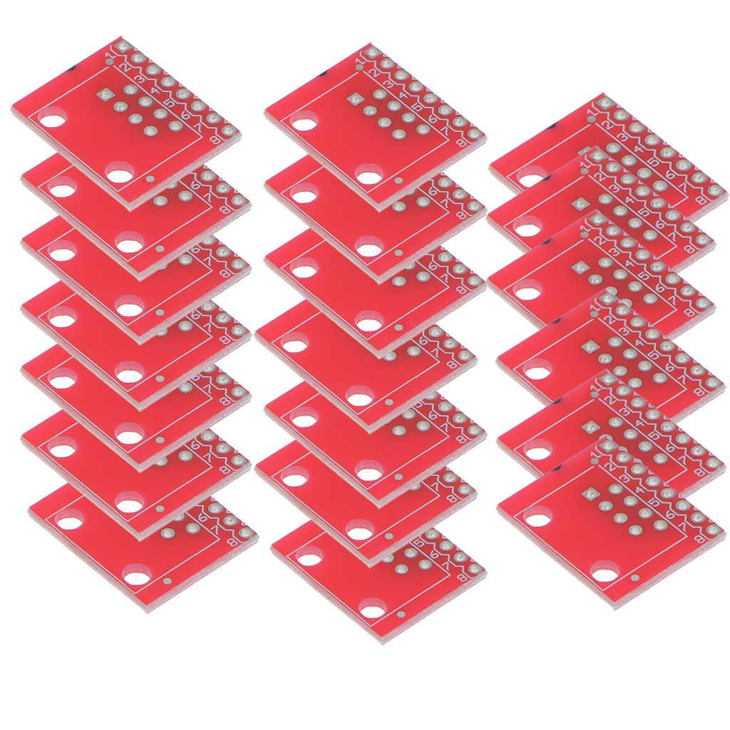 2020 conectores modulares 20x quentes novos/conectores ethernet rj45 breakout placa adaptador conector módulo placa portátil