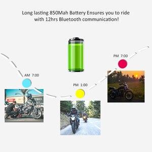 Image 5 - EJEAS V6 Pro Intercom Helmet Bluetooth Headset 850mAh Intercomunicador Microphone Metal Clamp MP3 GPS 1200m For 6 Riders