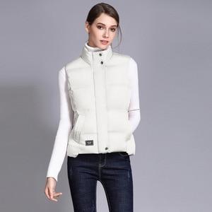 Image 2 - Seenimoe Women Waistcoat Winter Cotton Vest Coat Womens Solid Color S 3XL Female Top Quality Vest Sleeveless Jacket