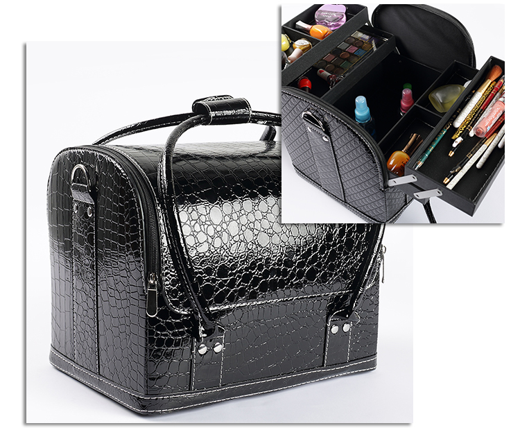New 2017 Hot High Quality Professional Makeup Organizer Bolso Mujer Cosmetic Case Travel Large Capacity Storage Bag Suitcases In Bags Cases From