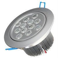 על פי הסיליקון דימר 12 w בהירות גבוהה led תקרת downlight / קבינט אור / הוביל אור ספוט תקרה