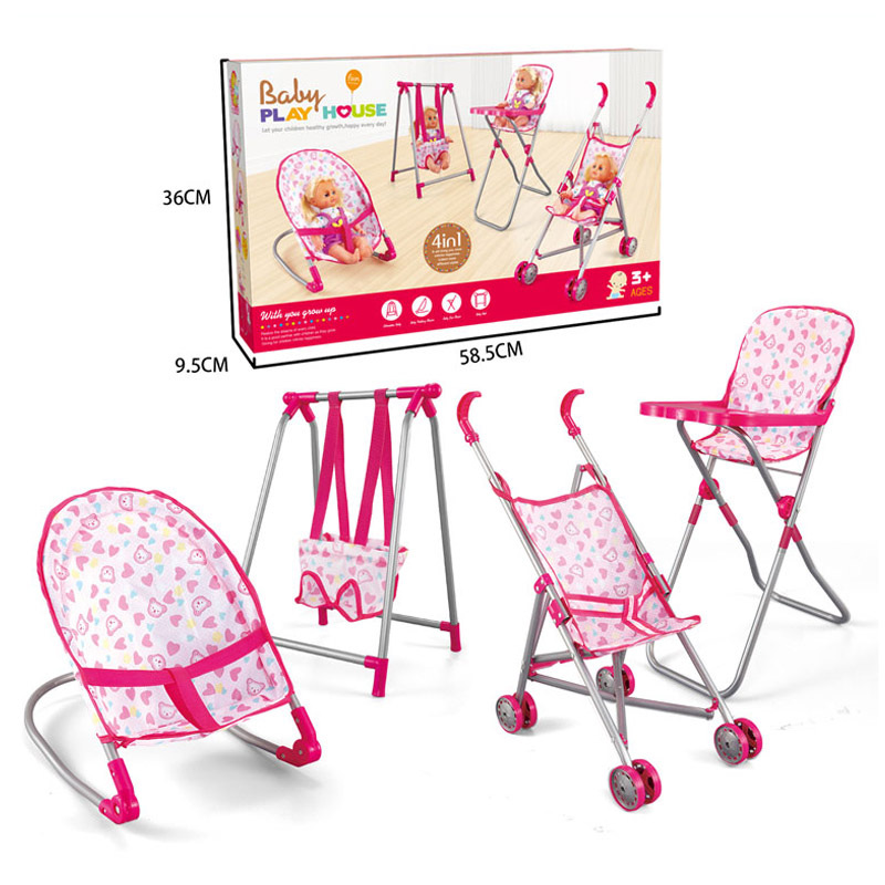 4 In 1 Baby Children Foldable High Dinning Chair Swing