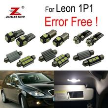 12 шт. безотказный светодиодный купольный светильник для чтения в интерьере, комплект лампочек для сидений, аксессуары для Leon MK2 1P 1P1(2005-2012