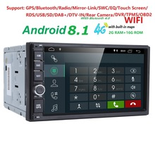 7inch 2 Din Android 8.1 Car NO-DVD Radio Multimedia Player 1024*600 GPS Navigation autoradio Stereo Audio