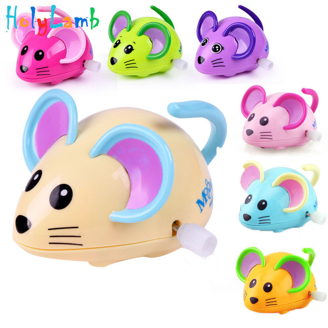 1Pcs Children Chain Toys Baby Cartoon Mouse Animal Baby Infant Wind Up Toys Clockwork Toys for Children Swing Kids