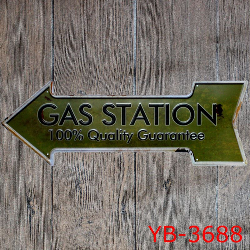Retro Metal Signs Arrow Shaped Painting Coffee Bar Beer Bar Gas Plate Wall Decor Open Exit Coffee Signboard Hanging Welcome Sign