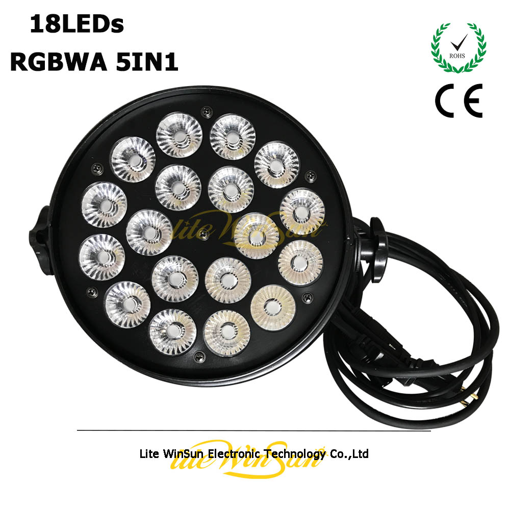 Litewinsune 18LEDs 12Watt RGBWA DMX Slim LED Par Can Stage LightingLitewinsune 18LEDs 12Watt RGBWA DMX Slim LED Par Can Stage Lighting
