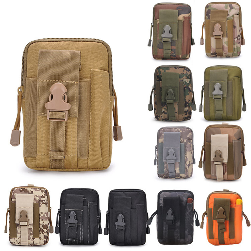 Sport Casual Tactical Military Outdoor Belt Waist Bag Men's Sport Casual Waist Fanny Pack Phone Case Camping Hunting Bags