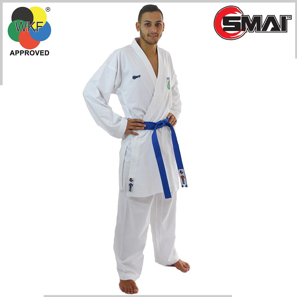 KarateGI SMAI Pro Fighter Kumite WKF Approved kumite karate GI 2018 new can participate in international domestic competitions цена