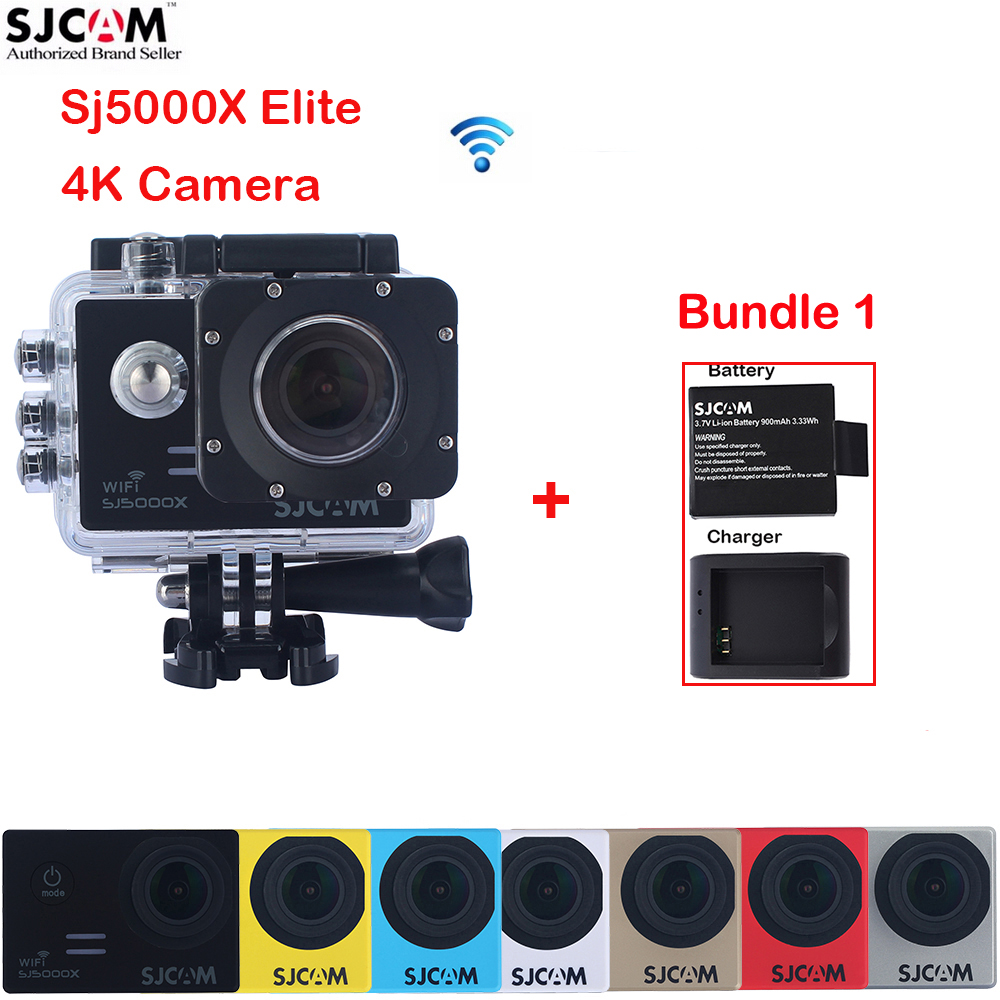 Extra a Battery,a Charger 2.0 4K SJCAM Sj5000 Series SJ5000X Elite WiFi NTK96660 30M Waterproof Sports Action Camera Sj Cam DVR original sjcam m20 wifi 4k 24fps 30m waterproof sports action camera sj cam dvr 2 extra battery dual charger remote monopod