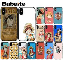 Babaiite Monkey D Luffy One Piece Soft Silicone TPU Phone Cover for Apple iPhone 8 7 6 6S Plus X XS MAX 5 5S SE XR Cover(China)