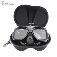 TOFOCO Scuba Diving Mask Snorkel Swim Glasses With Storage Case For GoPro Hero 5 4 3