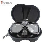 TOFOCO Scuba Diving Mask Snorkel Swim Glasses With Storage Case For GoPro Hero 5 4 3