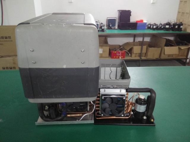 Mini Kühlschrank Mit Batterie : V super micro mini kondensieren einheit elektronische batterie