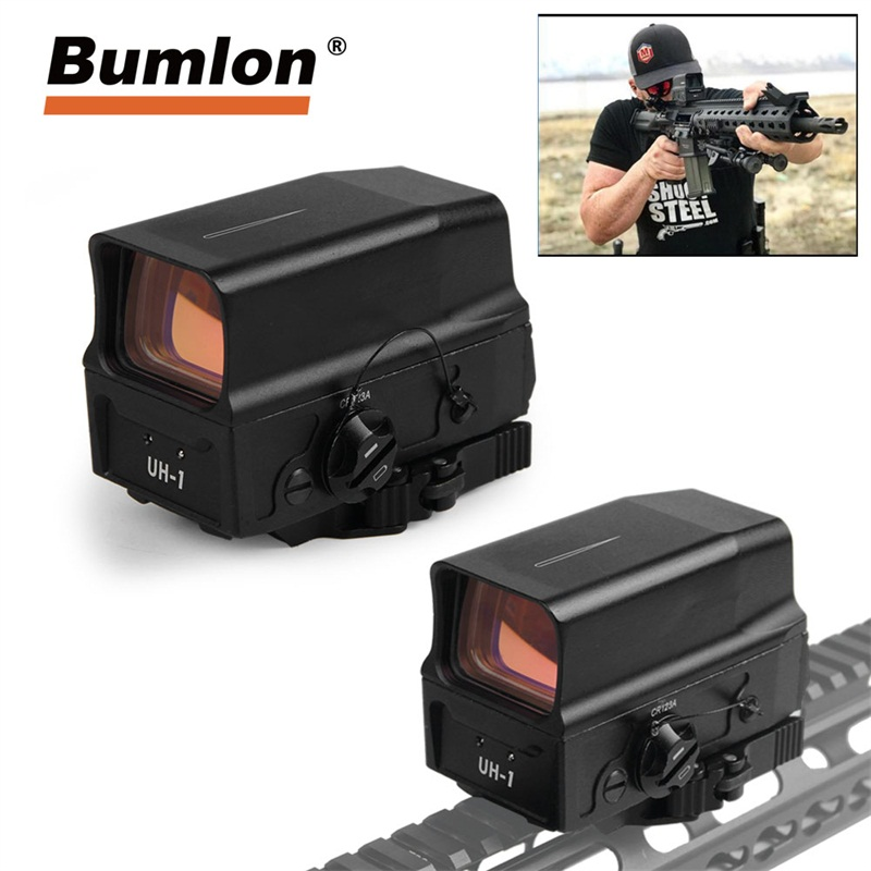 UH-1 Red Dot Sight QD Quick Detach Holographic Reflex Scope USB Charger Cable fit 20MM Rail Mount for Hunting Airsoft HT5-0045 fc1 2moa red dot sight scope collimated prismatic reflex sight fit 20mm rail for hunting airsoft ht5 0041