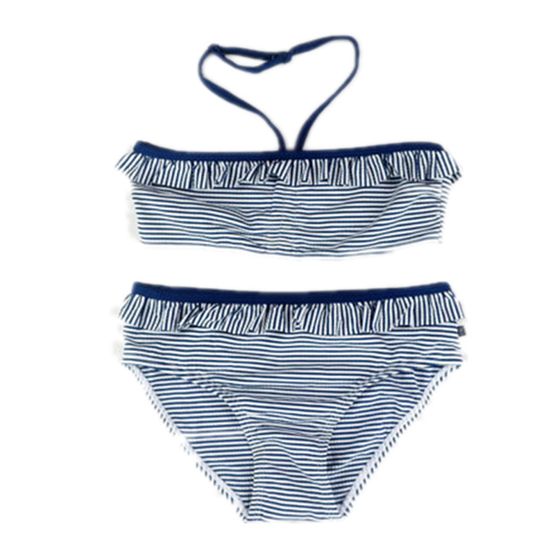 6-15 Years old Children girl swimwear Teenage girl two pieces swimsuit blue striped bathing suit Girls Bikini kids swim wear new striped kids girls two pieces halter swimsuit tankinis swimwear bathing suit swimwear girls kids beach wear teenager child