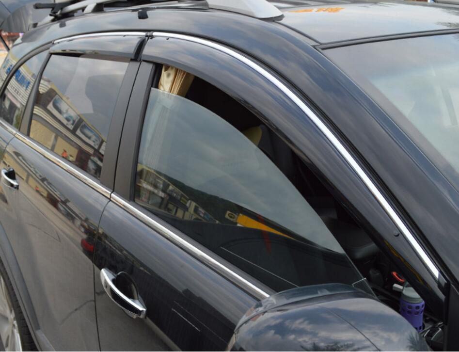 RKAC 4 pièces porte fenêtre pare-soleil déflecteurs pluie bouclier pare-soleil pour Chevrolet Holden Captiva 2008-2015 auvents et abris