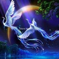 3d Diy Diamond Painting Cross Stitch Needlework Free Rhinestone Drill Full Inlaid Pasted Crystal Bird Phoenix