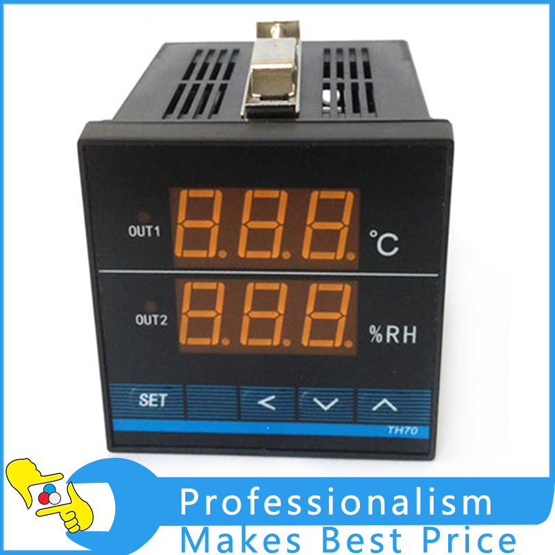 TH70 High-precision Intelligent Digital Temperature and Humidity Controller haitai b 600 digital high precision automatic constant tension controller for printing and textile