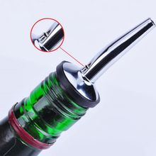 Barware Oil Spout Bottle Cocktail Pourers Liquor Spirit Pourer Flow Wine Bottle Pour Spout Stopper Pourer Stainless Steel Wine
