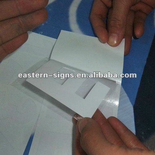 Adhesive Decals with Application Sheet
