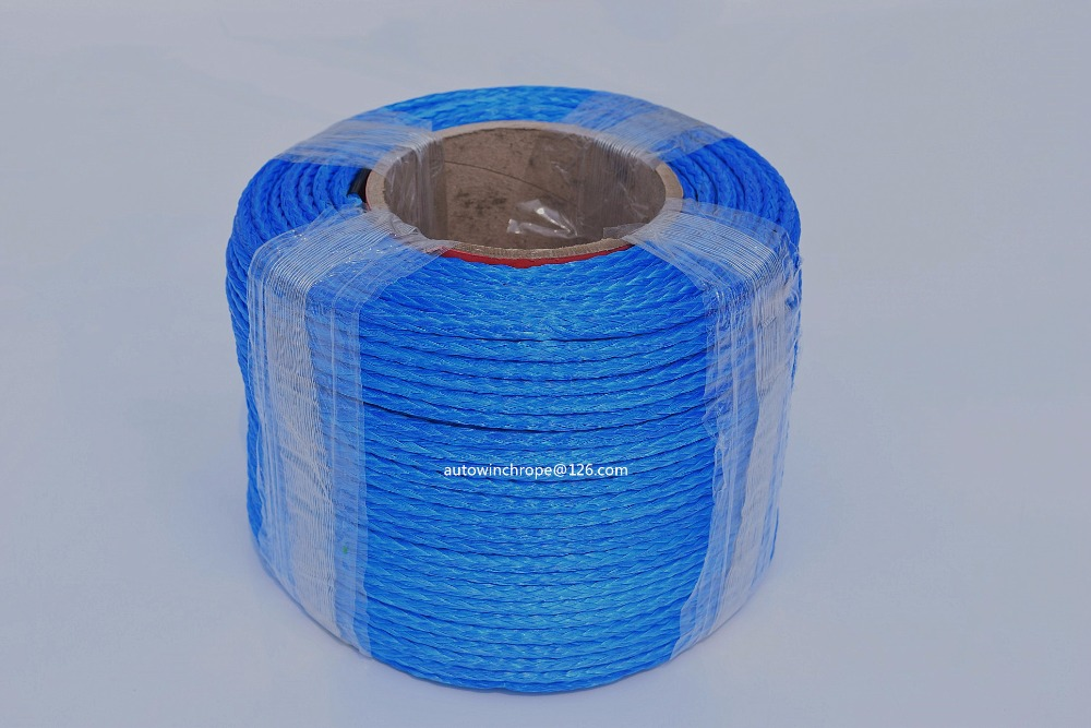 """Blue 5mm*100m Synthetic Winch Cable,3/16"""" Dia ATV Winch Line,12 Plait Spectra Rope,4*4 Off Road Parts-in Towing Ropes from Automobiles & Motorcycles"""