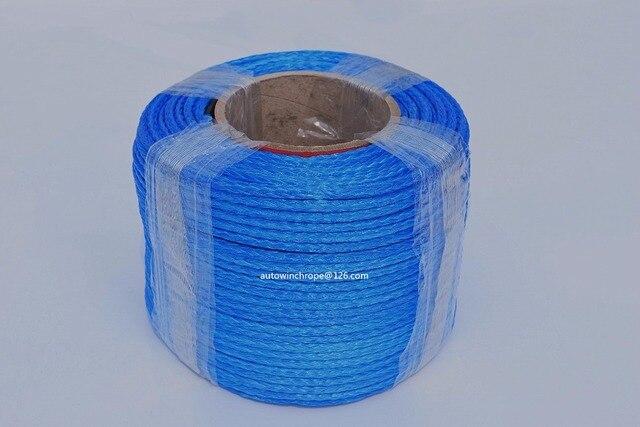 """Câble de treuil synthétique bleu 5mm * 100m, ligne de treuil ATV 3/16 """"Dia, corde Spectra 12 tresses, 4*4 pièces tout terrain"""