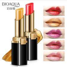 5 Colors Gold Lipstick Brilliant lips Gloss Refreshing Long Lasting Li