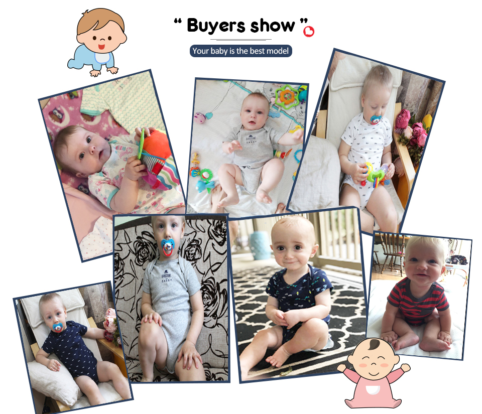 HTB1yUiYcUGF3KVjSZFoq6zmpFXaF Clearance 5pcs Baby rompers 100% Cotton Infant Body Short Sleeve Clothing baby Jumpsuit Cartoon Printed Baby Boy Girl clothes