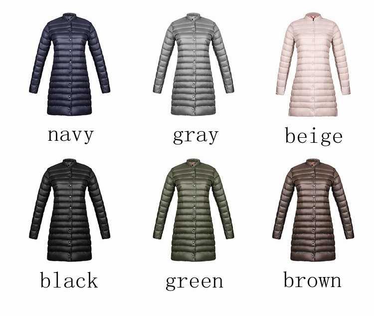 NewBang бренд Для женщин s весна мягкий Теплый пуховик Куртки ультра легкая зимняя куртка-пуховик Для женщин Портативный женщина долго перо куртка Slim