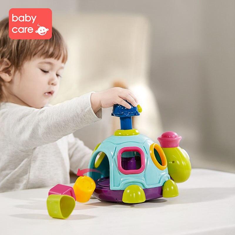 Babycare forme correspondant jouets Puzzle blocs éducation précoce jouet cognitif pour fille garçon 1-2 ans Puzzle blocs tortue jouet