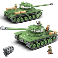 1068pcs Military IS 2M Heavy Tank Soldier Weapon Building Blocks fit LegoING Technic WW2 Tank Bricks Army 100062 Kids Toys Gifts