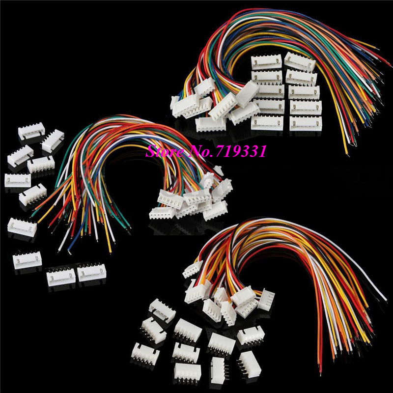 10sets XH  2.54mm Pitch  2p 3p 4p 5P 6P 7P 8P 12P Terminal / Housing / Pin Header Connectors with Wire Adaptor XH Crimps 100sets lot connector ch3 96 molex 3 96 3pin 180 degrees top entry pitch 3 96mm pin header terminal housing ch3 96 3p