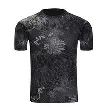 Летняя уличная Мужская Военная тактическая футболка Мужская дышащая охотничья камуфляжная питоновая камуфляжная футболка сетчатая одежда походные футболки