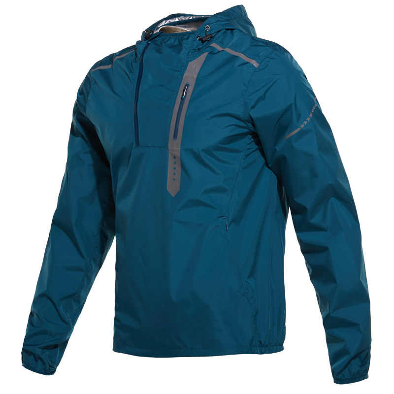 Hot Sweat Shapewear Sports Clothing Men Running Jacket Men Sports Jacket Sportswear Fitness Gym Jacket Reflective Windbreaker