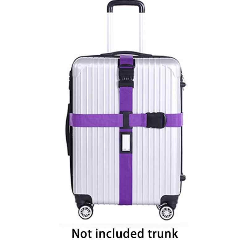 42d42334a2ac ... Багажный ремень кросс-ремень упаковка Регулируемый Дорожный чемодан  нейлон 3 цифры Пароль замок Пряжка ремень ...