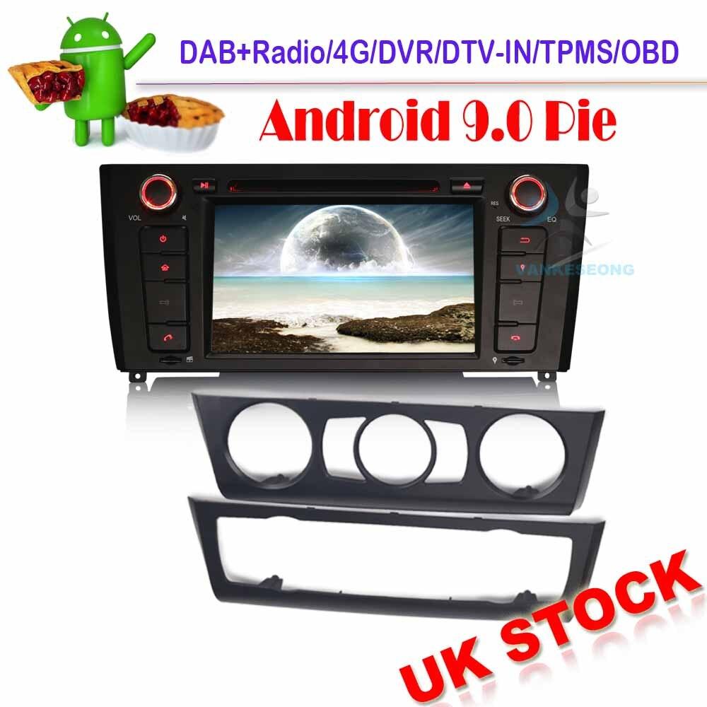 Autoradio Sat nav Autoradio Android 9.0 pour BMW 1 série E81 E82 E88 DVD GPS DAB + WIFI 4G Radio Bluetooth