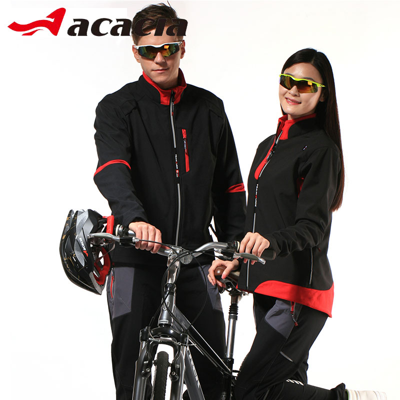 ACACIA Women Men Cycling Jersey Suits Sets Winter Bicycle Long Sleeve Jackets+Trousers Sets Couple Bicycle Clothing 02369 veobike men long sleeves hooded waterproof windbreak sunscreen outdoor sport raincoat bike jersey bicycle cycling jacket