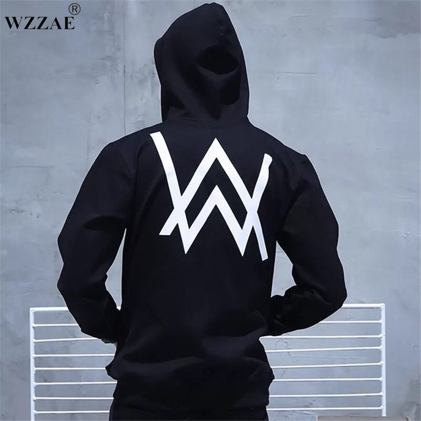Winter Fleece Sweatshirt Alan Walker Faded Hoodie Men Sign Printing Hip hop Rock Star sweatshirt Fleece Black Band HoodiesMen capa louis vuitton iphone x