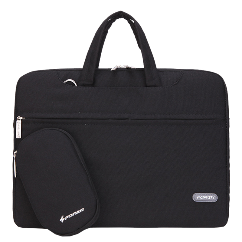 11 inch Laptop Bag Notebook Shoulder Messenger Bag Men Women Handbag Sleeve for Macbook Air Pro Case (Black)