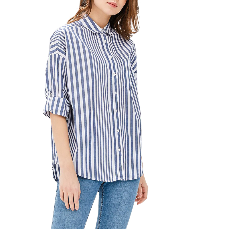 Blouses & Shirts MODIS M181W00568 woman blouse shirt blusas for female TmallFS plus collar knot blouses